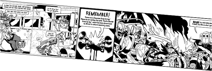 Line of example panels from The Underdogs 1